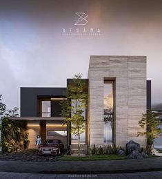 Modern house facades - Bienvenido a Besana Studio Modern Exterior House Designs, Modern House Facades, Modern Villa Design, Dream House Exterior, Exterior Design, Bungalow House Design, House Front Design, Small House Design, Narrow House Designs