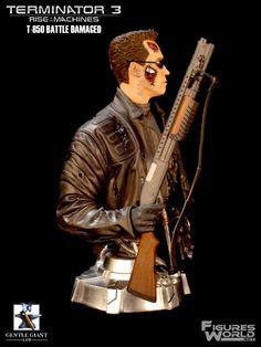 Terminator Bust | Terminator 3 Bust T-850 Damage Estatua No Sideshow