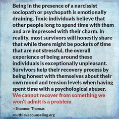 No one wants to be around the Narcissist(s). There so delusional, they think people love their company, in reality people dread being around the narcissist(s).