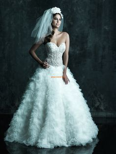 Brillant & Séduisant Perle Empire Robes de mariée 2014