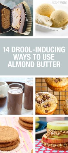 14 Drool-Inducing Ways to Use Almond Butter. Have you tried almond butter? Low Carb Recipes, Snack Recipes, Dessert Recipes, Cooking Recipes, Sweet Recipes, Easy Recipes, Healthy Desserts, Healthy Cooking, Almond Butter