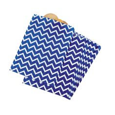 Hand out candy, small gifts or party favors in these blue and white chevron treat bags. Printed with a striped zig-zag design, these favor bags are a fun way to coordinate giveaways with your blue party theme. Paper. 7 x 9 1/2 © OTC
