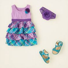 baby girl - outfits - dreamy dresses - pretty in plaid Cute Little Girls Outfits, Toddler Girl Outfits, Kids Outfits, Baby Girl Fashion, Toddler Fashion, Kids Fashion, My Baby Girl, Baby Girls, Cute Baby Clothes