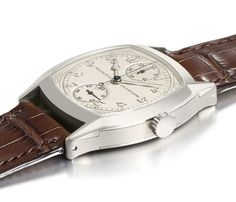 Patek Philippe Unique Cushion-shaped Singe Button Chronograph in 18k White Gold - $3,637,408
