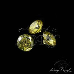10pcs AAAAA 3mm Olive Cubic Zirconia Round Shape Faceted CZ