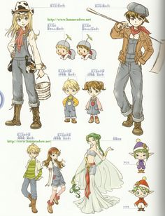 HM: ANB Harvest Games, Harvest Moon Game, Moe Anime, Anime Chibi, Character Concept, Character Design, Trio Of Towns, Moon Photography, Landscape Photography
