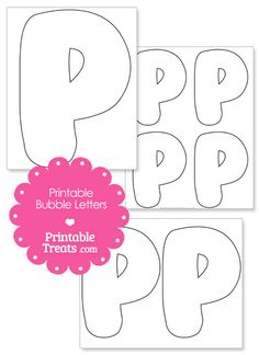 Printable Bubble Letter P Template from PrintableTreats.com