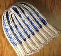 Loom Knit A Hat In A Bicolor Brioche Stitch                                                                                                                                                      More