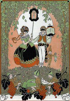 Vintage Child Life Halloween Fairy Illustration
