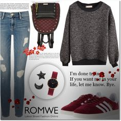 #everyday#outfit by miralemaa on Polyvore featuring Frame, adidas, River Island and Abbott Lyon
