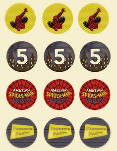 Spiderman Birthday Party Complete by SnickerplumLLC on Etsy. $34.99 USD, via Etsy.