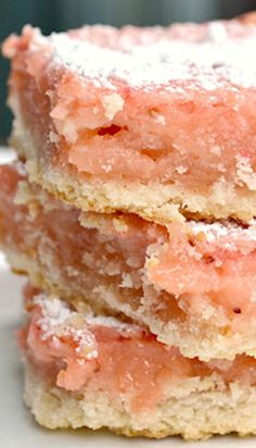 Strawberry Lemonade Bars ~ They were so refreshing - sweet and tart - and delicious