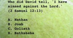 Who did David tell, 'I have sinned against the Lord.'