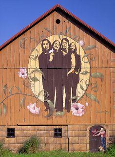 The Fab Four Barn Quilt - photo by Joseph Kayne Country Barns, Old Barns, Country Life, Country Living, Beatles Art, Barn Art, The Fab Four, Down On The Farm, Barn Quilts
