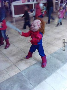 Went to a Mall Center when suddenly... SpiderChucky , we are f**ked.