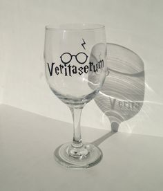 Harry Potter Veritaserum Hand-Painted Wine Glass $15.00 on Etsy shop The Henroost