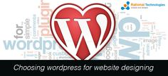 """Rational Technologies is best web designing company and choosing """"wordpress"""" .http://www.rationaltechnologies.com"""