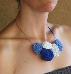 old tshirt rosette necklace