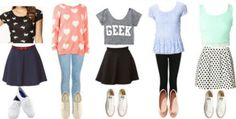 Forever 21 ♥ five different girly outfits for every school day