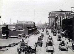 Heavy Traffic on West Street, New York, 1885