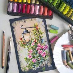 Chalk pastel art, chalk art, pastel artwork, chalk pastels, s Chalk Pastel Art, Soft Pastel Art, Pastel Artwork, Oil Pastel Paintings, Oil Pastel Drawings, Chalk Pastels, Chalk Art, Art Drawings, Soft Pastels
