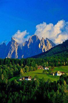 San Pietro , Funes Valley , Dolomites , Italy