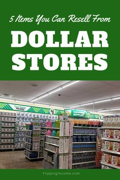 Dollar Tree, Dollar General, and Family Dollar all carry items that you can resell for profit. Take a look at the 5 items you can resell from dollar stores. store crafts dollar tree 5 Items You Can Resell From Dollar Stores - Flipping Income Diy Projects To Sell, Crafts To Sell, Sell Diy, Make Money From Home, Make And Sell, What To Sell, Retail Arbitrage, Ideas Vintage, Diy And Crafts Sewing