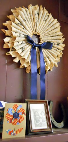 Book Wreath,
