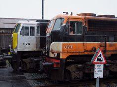 Drogheda to Oldcastle Railway Line - MP Drogheda Irish Rail 071 Class Locomotive & in Navan Station, Meath October with a Tara Mine trains. British Rail, Bus Coach, Ireland Travel, Coaches, Locomotive, Buses, Dublin, Hot Wheels, Diecast