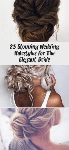 23 Stunning Wedding Hairstyles For The Elegant Bride - hariankoran Bridal Hair Up, Messy Wedding Hair, Elegant Wedding Hair, Elegant Bride, Glamorous Wedding, Wedding Hairstyles With Veil, Party Hairstyles, Unique Hairstyles, Messy Hairstyles