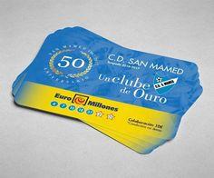 Diseño de tarjeta participación Euromillones con motivo del 50 aniversario del CD San Mamed