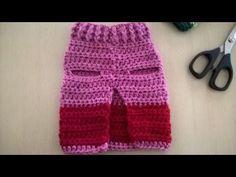 Sueter o jersey para perro tejido /crochet jersey for pets Crochet Dog Clothes, Crochet Dog Sweater, Pet Clothes, Crochet Crafts, Crochet Projects, Free Crochet, Knit Crochet, Learn Crochet, Crochet Stitches