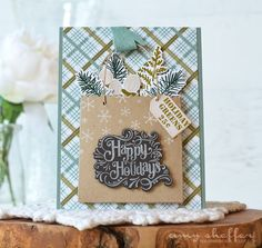 Happy Holidays Card by Amy Sheffer for Papertrey Ink (September 2016)