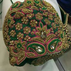 55 Latest Maggam Work Blouse Designs that will inspire you - Wedandbeyond Cutwork Blouse Designs, Wedding Saree Blouse Designs, Pattu Saree Blouse Designs, Simple Blouse Designs, Stylish Blouse Design, Blouse Neck Designs, Latest Maggam Work Blouses, Hand Work Blouse Design, Aari Work Blouse
