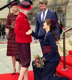 Danish Royal Family attended the opening of the Danish Parliament Scanlan Theodore, Danish Royal Family, Danish Royals, Crown Princess Mary, Knit Wrap, The Crown, How To Wear, Jackets, Denmark