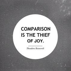 Comparison kills the real joy !!
