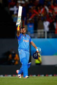 India vs Zimbabwe, 39th Match, Pool B Raina registered his 5th ODI ton