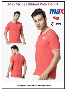 : Solid : Must Haves : Casual : Cotton Polo T Shirts, Pink Stripes, Must Haves, Polo Ralph Lauren, Range, Casual, Fabric, Mens Tops, Cotton