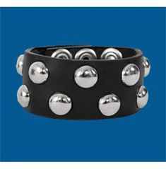 Thick Leather, Studded Leather, The Row, Attitude, Studs, Dots, Awesome, Bracelets, Black