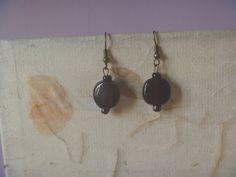 Black Drop Earrings, Bird Earrings, Etsy Earrings, Star Shape, Poet, Earrings Handmade, Seed Beads, Upcycle, Dangles