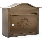 Buy Architectural Mailboxes Lunada Locking Wall Mount Mailbox, Bronze at Walmart.com