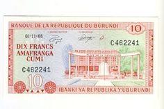 Burundi 1968 Ten Francs uncirculated
