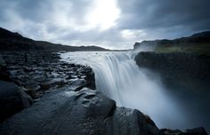 Dettifoss waterfall is in the Vatnajökull National Park in Northeast Iceland. It is the most powerful waterfall in Europe. Iceland Adventures, Travel Magazines, Iceland Travel, Northern Lights, Hunting, National Parks, To Go, Europe, Places
