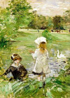 Berthe Morisot - Au bord du lac, 1883 at Musée Marmottan Monet Paris France | by mbell1975