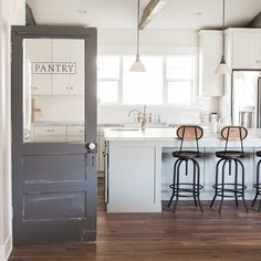 A shot of the kitchen and pantry door at our latest home. Photo courtesy of the talented @aceandwhim