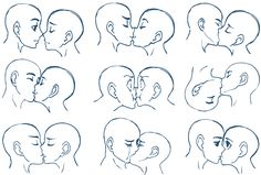 How to draw people kissing. :)