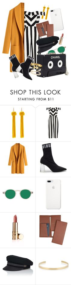 """""""Don't Talk Down To Me"""" by lifesgucci ❤ liked on Polyvore featuring WithChic, River Island, Versus, Chanel, Royce Leather, Lola, Jennifer Fisher, parisfashionweek and Packandgo"""