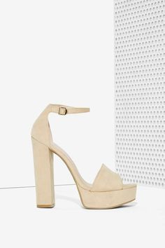 f93b0fadbcfebb Amber Suede Platform Beige Heels