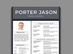 Porter Resume Enchanting Free Creative Resume Template In 2 Pages  Resume  Pinterest  Free .