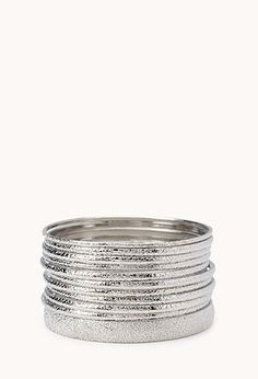 Etched Metal Bangle Set | FOREVER 21 - 1076820935 #F21CRUSH